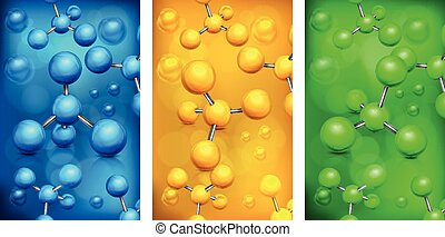 Color molecules background