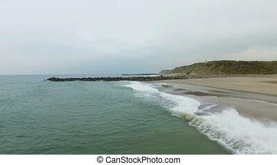 Denmark in autumn, coast