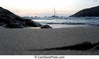 Beach on sunset