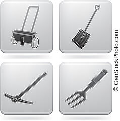 Garden Tools - Miscellaneous Gardening hand tools (part of...