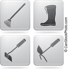 Garden Tools - Miscellaneous Gardening hand tools (part of...