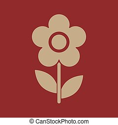 The flower icon. Nature symbol. Flat Vector illustration