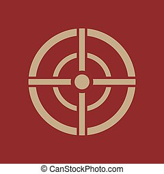 The aim bag icon. Crosshair and target, sight, sniper...