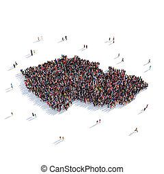 people group shape map Czech Republic - Large and creative...