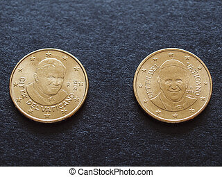 Pope Benedict XVI and Pope Francis I - Fifty euro cent (EUR)...