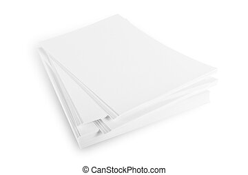 Ream of paper - A ream of white sheets of paper isolated on...