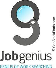 Magnifier lens vector logo design