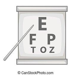 Eye test icon, gray monochrome style
