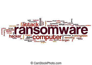 Ransomware word cloud concept