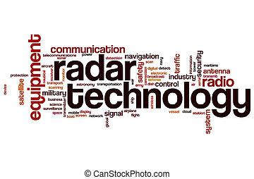 radar, parola, tecnologia, nuvola