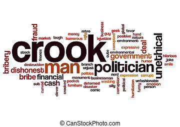 Crook word cloud concept