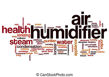Air humidifier word cloud concept