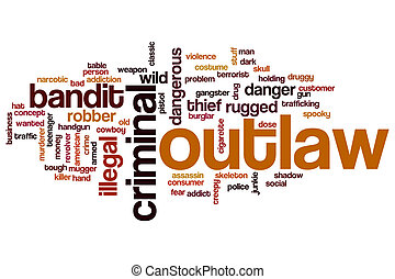 Outlaw word cloud concept