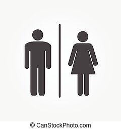 Restroom Icons Illustration