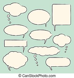Chat bubbles illustration - Chat bubbles vector illustration