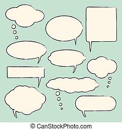 Chat bubbles illustration - Chat bubbles vector illustration