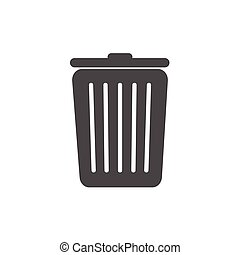 Trash can icon isolated on a white background
