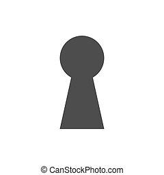 buraco fechadura, Ilustração, ícone