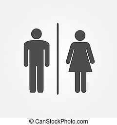 Restroom Icons Illustration - Restroom icons illustration...