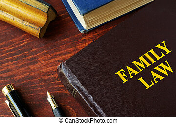 Book with title family law.