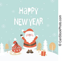 Card for new year.