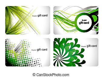 gift card set - abstract beautiful set of gift card design,...