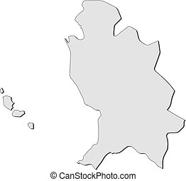 Map - Nayarit (Mexico) - Map of Nayarit, a province of...
