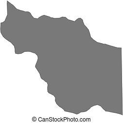 Map - Jufra (Libya) - Map of Jufra, a province of Libya.