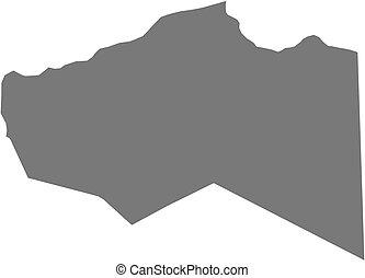 Map - Murzuq (Libya) - Map of Murzuq, a province of Libya.