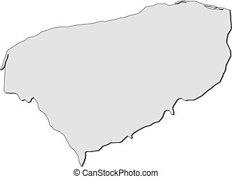 Map - Yucatan (Mexico) - Map of Yucatan, a province of...