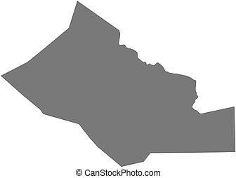 Map - Kidal (Mali) - Map of Kidal, a province of Mali.