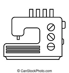 Sewing machine icon, outline style - Sewing machine icon....