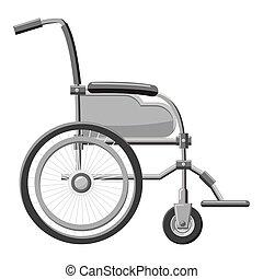 Wheelchair icon, gray monochrome style - Wheelchair icon....