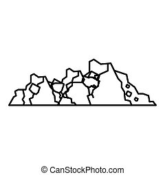 Ground icon, outline style - Ground icon. Outline...