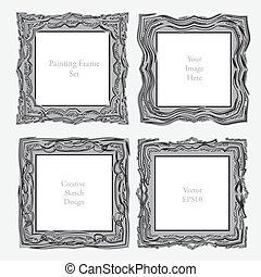 elegant antique square picture frame