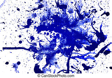 Blue background - abstract blue color from spash water color...