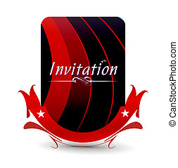 invitation card - Vector design for party invitation card,...