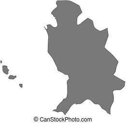 Map - Nayarit (Mexico) - Map of Nayarit, a province of...