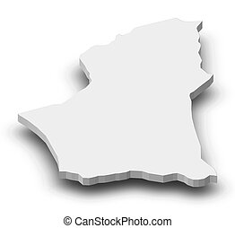 Map - Nalut (Libya) - 3D-Illustration - Map of Nalut, a...