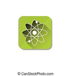 Atomic Energy Ecology Atom Icon Flat Vector Illustration