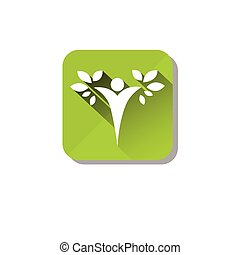 Eco Organic Environment Clean Care Icon Flat Vector...
