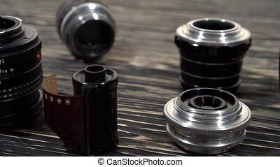 Vintage 35mm cameras and lenses. - Vintage 35mm cameras and...