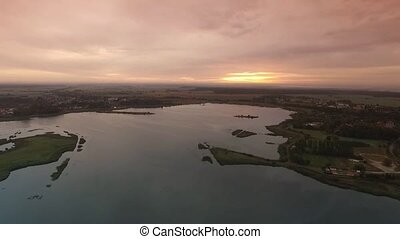 flight over vorpommern - germany by drone