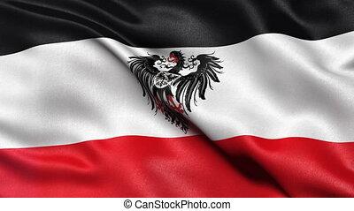 German Empire flag seamless loop - Seamless loop of...