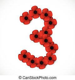 number three in poppies