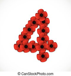 number four in poppies
