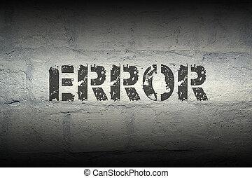 error WORD GR - error stencil print on the grunge white...