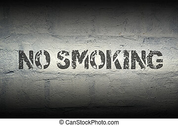 no smoking GR - no smoking black stencil print on the grunge...