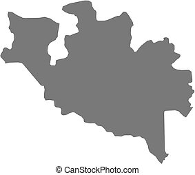 Map - Niger (Nigeria) - Map of Niger, a province of Nigeria.