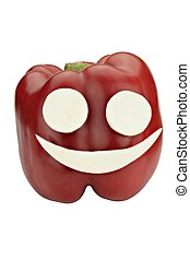 Pepper smiley - Red pepper smiley - happy